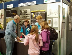 Malvern Family History Society Stand at the Three Counties Showground