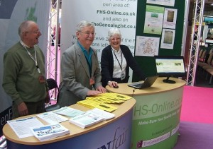 The Malvern Family History Stand at Who Do You Think You Are 2012