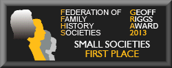 MFHS won the Award for the Best Small Family History Society website in 2013