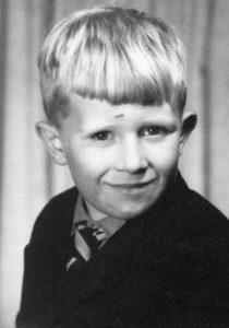 John Vaughan - as a boy - programme secretary for Malvern Family history Society