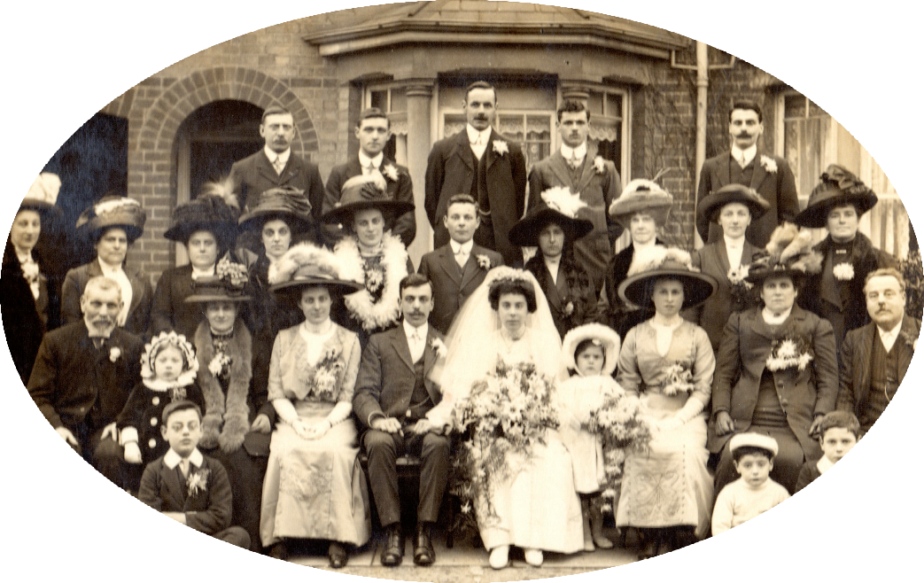 A family wedding circa 1910