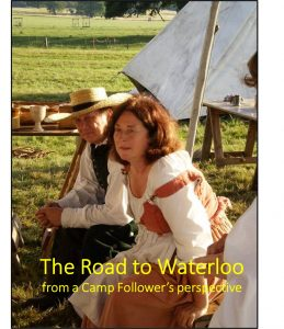 Michelle Ward as a camp follower - for her talk The Road to Waterloo